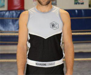 tenue de savate boxe Francaise pro homme détail face
