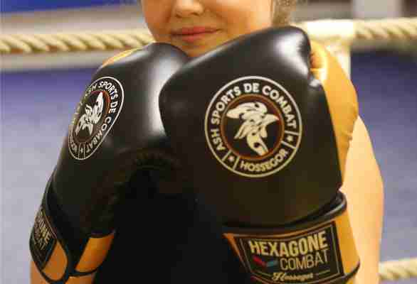 Gants de boxe personnalisés Hexagone Combat Hossegor enfants