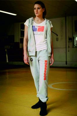 sporswear pantalon de jogging personnalisé et sweat capuche zippé sans manches personnalisé et T-shirt personnalisé Boxe Française Hexagone Combat Femme