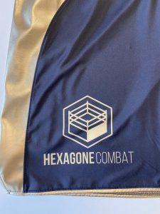 short de boxe anglaise pro détail logo face