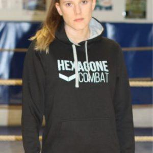 Sweat à capuche Hexagone Combat Femme