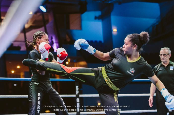 Tenue pantalon t-shirt de Savate Boxe Française personnalisé Hexagone Combat