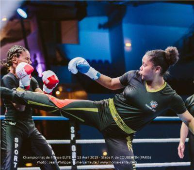 tenue personnalisée pantalon t shirt muniz fighting club lorna sincere savate boxe francaise hexagone combat femme