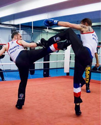 tenues personnalisées france police pantalon debardeur boxe francaise hexagone combat